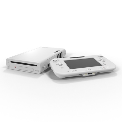 Nintendo Wii U Set White. Render 15