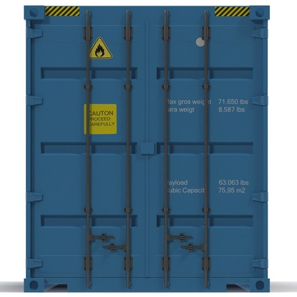 40 ft High Cube Container Blue 2. Render 17