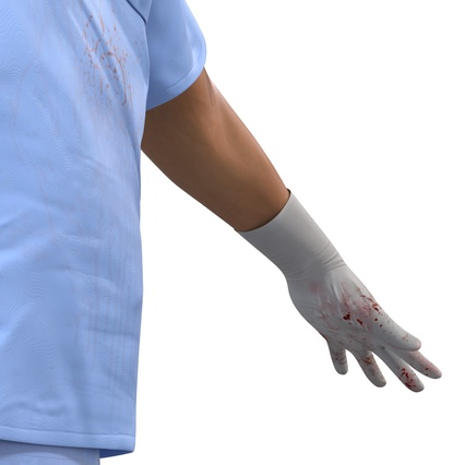 Male Surgeon Asian Rigged with Blood 2 for Cinema 4D. Render 31