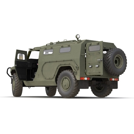 Russian Mobility Vehicle GAZ Tigr M Rigged. Render 26