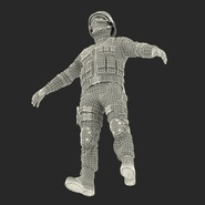 SWAT Man Mediterranean Rigged for Cinema 4D. Preview 52