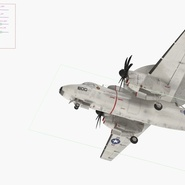Grumman E-2 Hawkeye Tactical Early Warning Aircraft Rigged. Preview 5