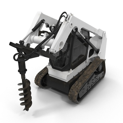 Compact Tracked Loader with Auger. Render 10