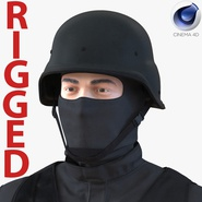SWAT Man Mediterranean Rigged 3 for Cinema 4D