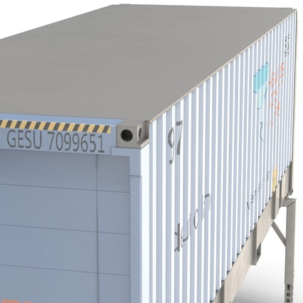 Swap Body Container ISO Blue. Render 16