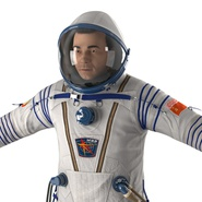 Russian Astronaut Wearing Space Suit Sokol KV2 Rigged for Maya. Preview 22