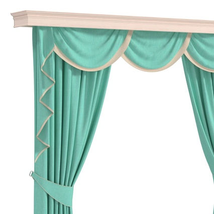 Curtains Collection. Render 45