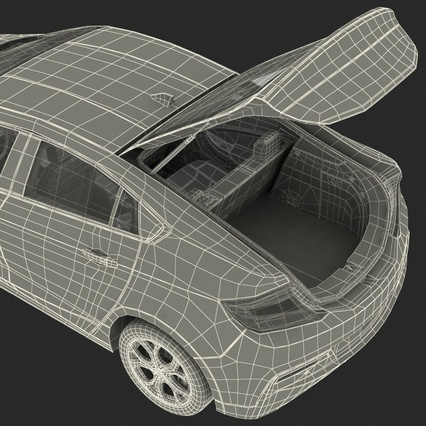 Generic Hybrid Car Rigged. Render 94