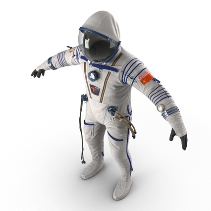 Russian Space Suit Sokol KV2 Rigged. Render 25