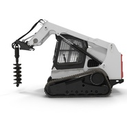 Compact Tracked Loader with Auger. Preview 9