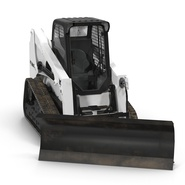 Compact Tracked Loader Bobcat With Blade Rigged. Preview 10