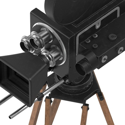 Vintage Video Camera and Tripod. Render 22