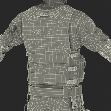SWAT Man Mediterranean Rigged for Maya. Render 57