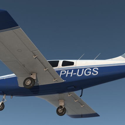 Piper PA-28-161 Cherokee Rigged. Render 7