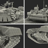 T72 Main Battle Tank Camo Rigged. Preview 26