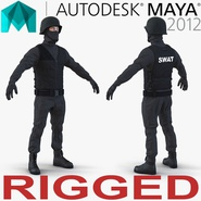 SWAT Man Mediterranean Rigged 3 for Maya
