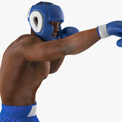 African American Boxer Rigged for Cinema 4D. Render 19