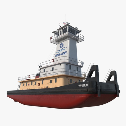 Pushboat. Render 1