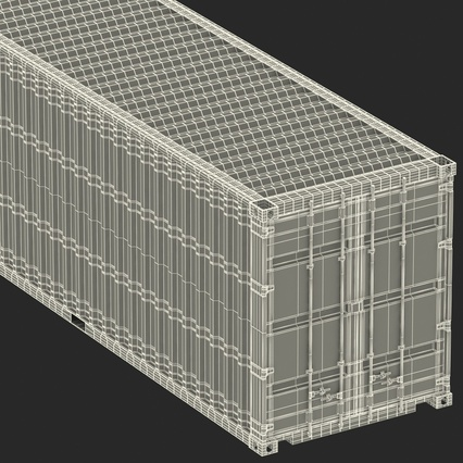 40 ft High Cube Container Green. Render 49