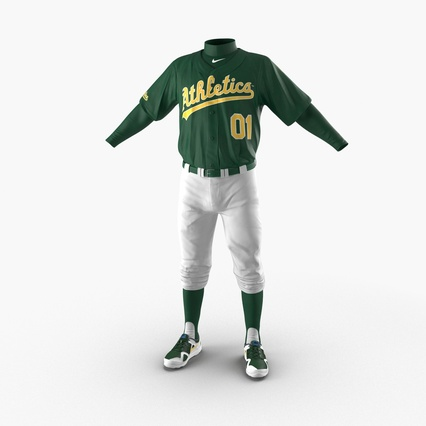 Baseball Player Outfit Athletics 3. Render 3