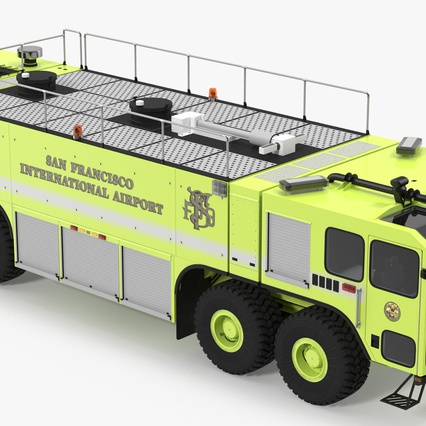 Oshkosh Striker 4500 Aircraft Rescue and Firefighting Vehicle Rigged. Render 7