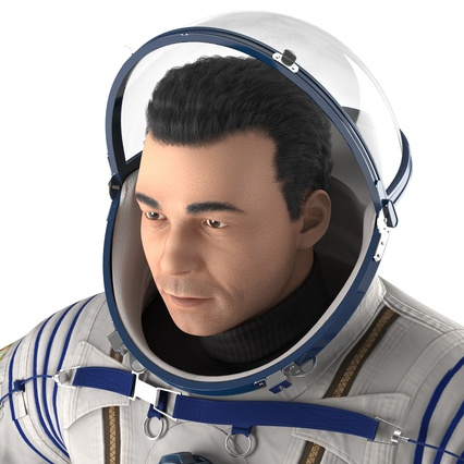 Russian Astronaut Wearing Space Suit Sokol KV2 Rigged for Maya. Render 30