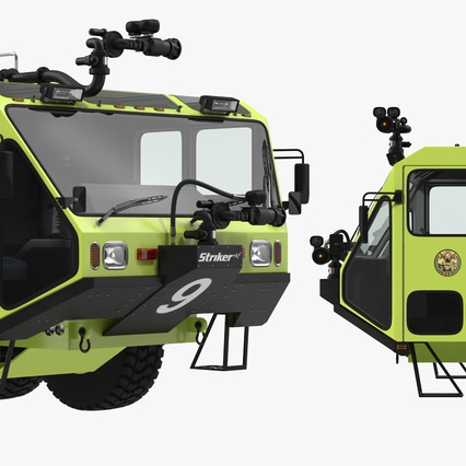 Oshkosh Striker 4500 Aircraft Rescue and Firefighting Vehicle Rigged. Render 15
