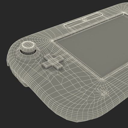 Nintendo Wii U Set White. Render 77
