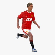 Soccer Player Manchester United Rigged 2