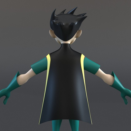 Robin Cartoon Character Rigged for Maya. Render 21