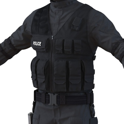 SWAT Man Mediterranean Rigged for Maya. Render 26