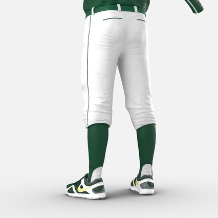 Baseball Player Outfit Athletics 3. Render 19