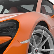 Sports Car McLaren 570GT 2017 Simple Interior. Preview 10