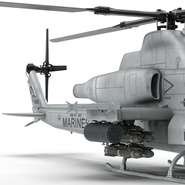 Attack Helicopter Bell AH 1Z Viper Rigged. Preview 52