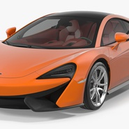 Sports Car McLaren 570GT 2017 Simple Interior. Preview 2