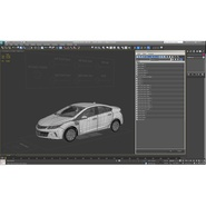 Generic Hybrid Car Rigged. Preview 74