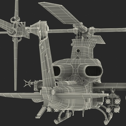 Attack Helicopter Bell AH 1Z Viper Rigged. Render 99