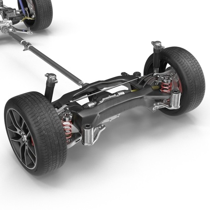 Sedan Chassis. Render 11