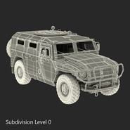 Russian Mobility Vehicle GAZ Tigr M Rigged. Preview 64
