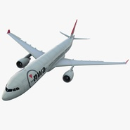 Jet Airliner Airbus A330-300 Northwest Airlines Rigged. Preview 1