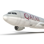 Jet Airliner Airbus A330-200 Qatar. Preview 41