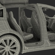 Tesla Model X Rigged. Preview 106