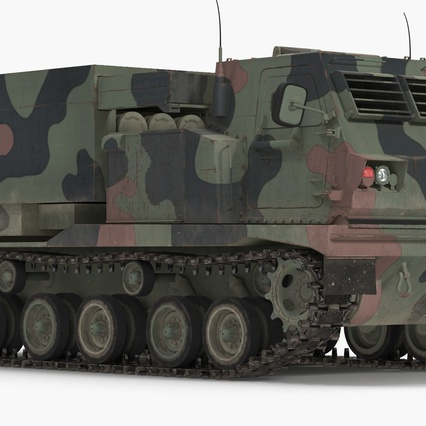 US Multiple Rocket Launcher M270 MLRS Camo. Render 5