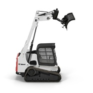 Compact Tracked Loader Bobcat With Blade Rigged. Preview 4