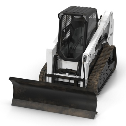 Compact Tracked Loader Bobcat With Blade. Render 13