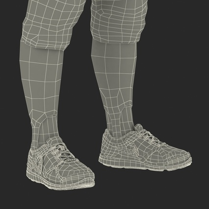 Baseball Player Outfit Athletics 3. Render 41