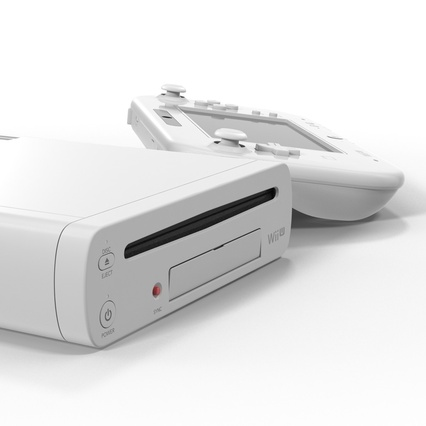 Nintendo Wii U Set White. Render 37