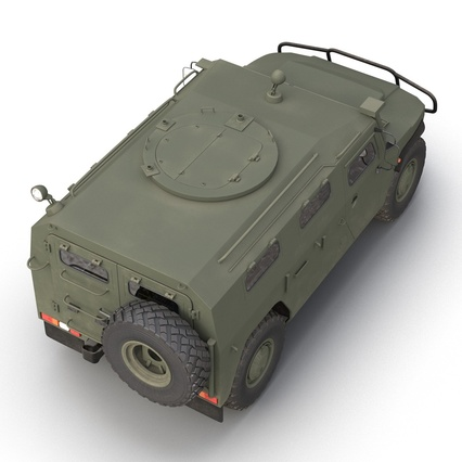 Russian Mobility Vehicle GAZ Tigr M Rigged. Render 22