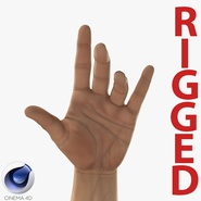 Man Hands 2 Rigged for Cinema 4D