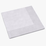 Beverage Napkin White